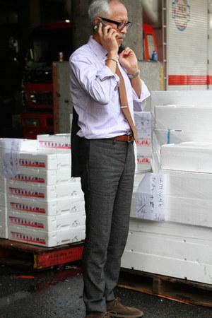 Charvet shirt - Clarks boots - Tiffany accessories - UNDERCOVERIZM suit