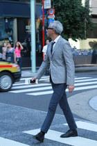 Salvatore Piccolo shirt - Comme des Garcons jacket - BROWN by 2-tacs pants