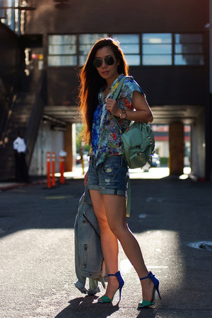full circle blouse - backpack asos bag - Zara sandals