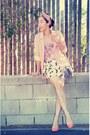 H-m-blazer-vintage-bag-h-m-heels-h-m-skirt-cami-vintage-top-fossil-wat
