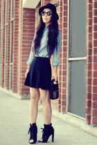 black freja Alexander Wang boots - black Alexander Wang purse - black Zara skirt