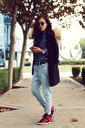 Forever21 jacket - Zara jeans - JCrew shirt - nike sneakers