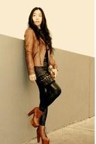 William Rast for Target jacket - H&M dress - INCinternational leggings - Jeffrey