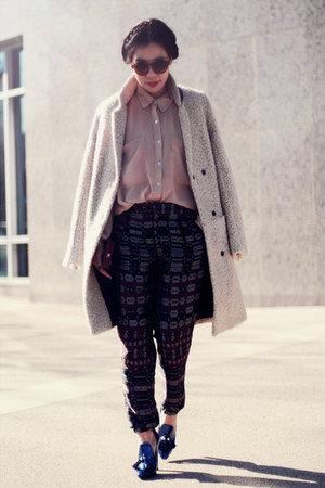 Alexander Wang pumps - H&amp;M coat - American Apparel shirt - Zara pants