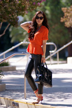 H&M top - Zara shoes - 31 Phillip Lim bag - Karen Walker sunglasses