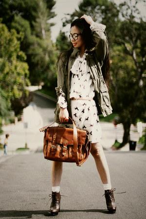 asos dress - Zara boots - H&M jacket - warehouse bag