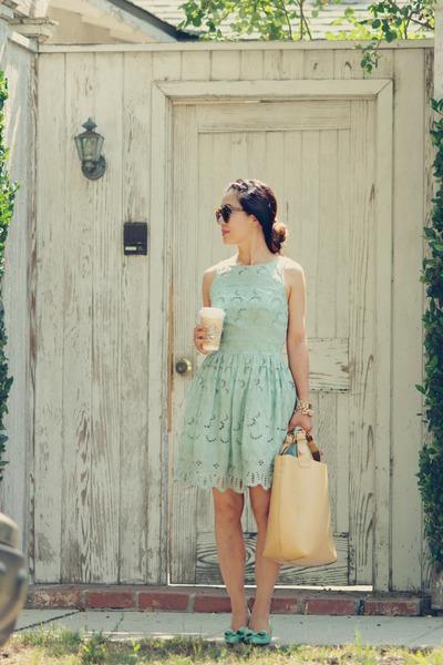 asos dress - Zara bag - saks flats