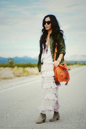 Old Navy shirt - DV by dolce vita boots - Gucci bag - free people skirt