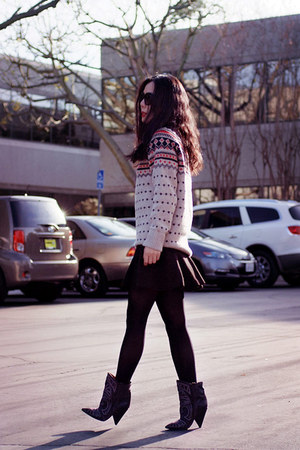 JCrew sweater - Isabel Marant boots