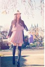 Forever21-dress-nordstrom-hat-forever21-sweater-thrifted-vintage-bag-fre