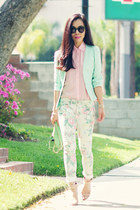 Floral Jeans and Peplum Jacket