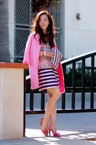 Zara jacket - Loft bag - Jcrew skirt - Celine heels