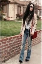 Joes Jean jeans - Zara blazer - vintage scarf - Zara bag - H&M sunglasses - Char