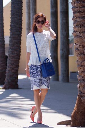 JCrew skirt - Celine bag