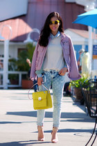 Guess bag - Zara jeans - Bebe jacket - Zara sandals
