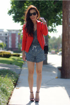 Zara jacket - JCrew shorts - Zara sandals
