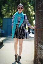 Steve Madden boots - polka dot Zara scarf - polka dot Forever21 shorts - H&M sun