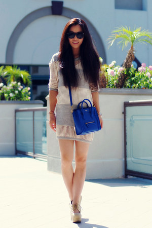 Celine bag - Isabel Marant dress - Jeffrey Campbell wedges