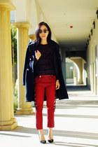 Zara coat - Isabel Marant jeans