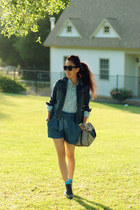 denim H&M jacket - Opening Ceremony boots - Louis Vuitton bag