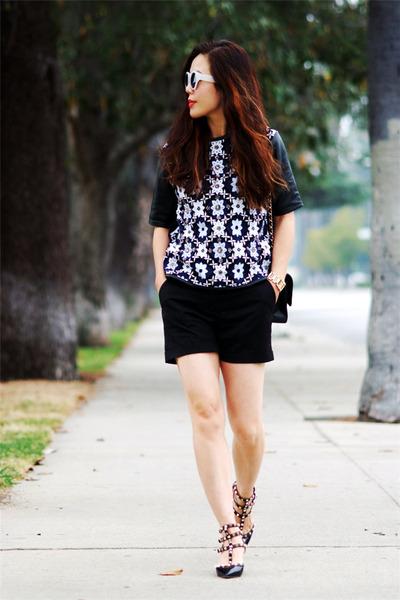 H&M shorts - Valentino heels