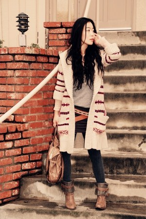 Joie boots - Alice and Oliva dress - a&amp;f sweater - botkier bag