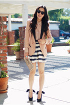 neutral American Apparel blouse - black Carven shoes - asos blazer