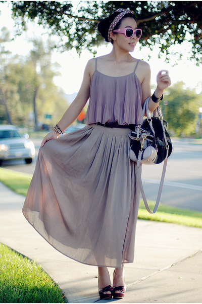 Miu Miu heels - light purple Forever21 dress - Miu Miu bag
