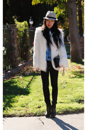 Zara coat - Cheap Monday jeans - Sam Edelamn boots - Chanel