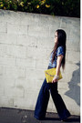 Wide-legs-h-m-jeans-yellow-clutch-asos-bag-h-m-top-golden-d-g-watch-whit