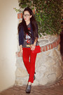 Red-river-island-jeans-zara-blazer-marc-jacobs-bag-mickey-forever-21-t-shi