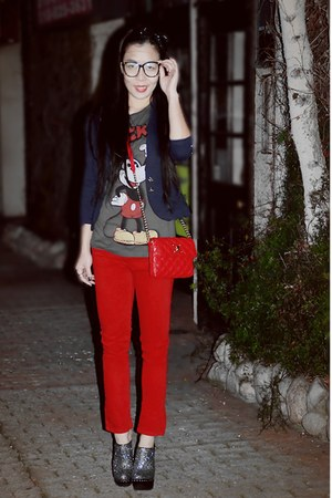 red River Island jeans - Zara blazer - Marc Jacobs bag