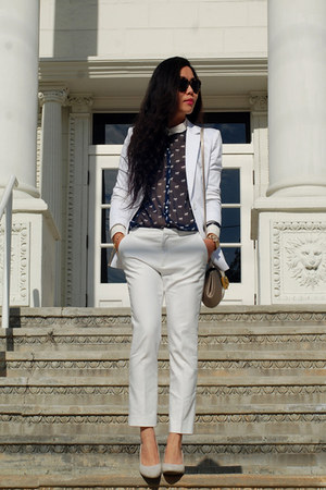 Zara blouse - Express blazer - Zara pants