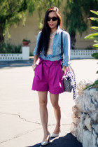 Jcrew shorts - Zara shirt - Louis Vuitton bag