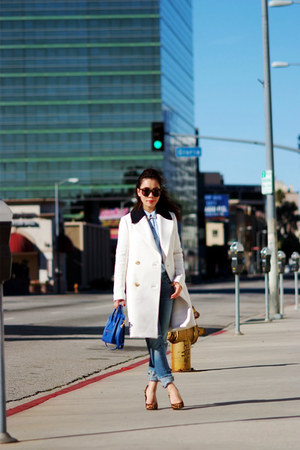 JCrew coat - Celine bag