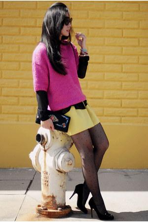H&M sweater - Zara shirt - asos skirt