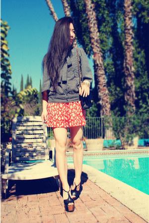 classic Chanel bag - BCBGeneration romper - Jessica Simpson heels - H&M bracelet