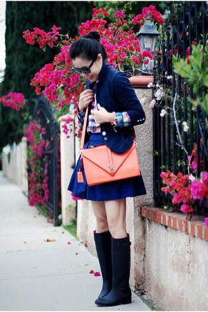 Zara blazer - Urban Outfitters boots - thrifted skirt
