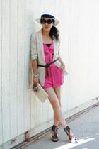 Sigerson Morrison wedges - beige H&M blazer - vintage bag