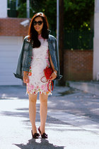 Esprit jacket - floral lace Choies dress - Marc Jacobs bag
