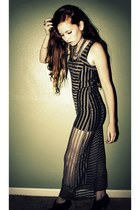 sheer stripes Urban Outfitters dress