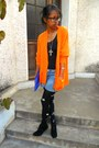 Black-miu-miu-diy-tights-black-lily-shoes-boots-orange-flino-sweater