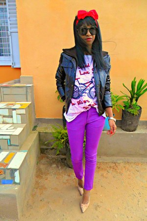 amethyst Skinny jeans - bubble gum floral heels