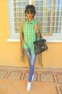 White-converse-sneakers-chartreuse-calvin-klein-plaid-shirt