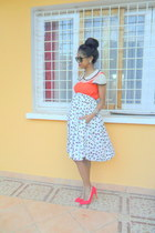 red pull&bear pumps