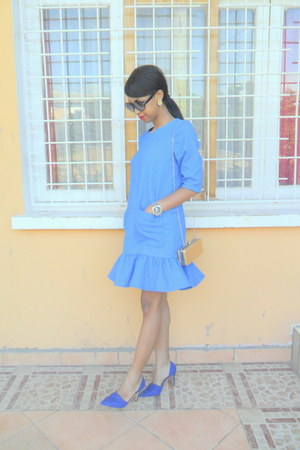 blue dress - blue Zara pumps