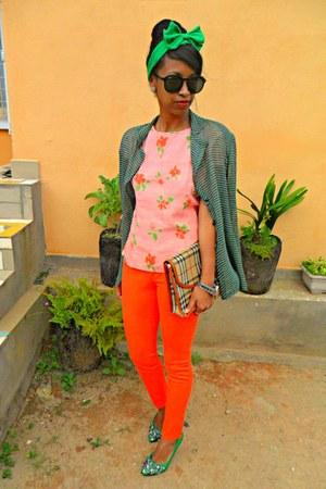 carrot orange Skinny pants