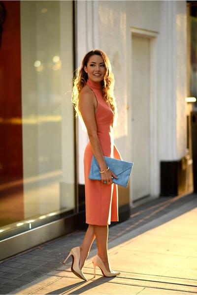 Schutz shoes - salmon similar Zara dress - sky blue asos bag