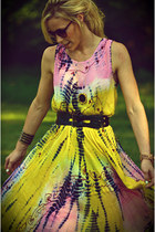 bubble gum boho dress
