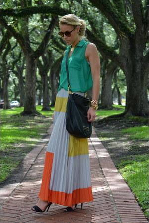 Nordstroms blouse - Anthropologie skirt